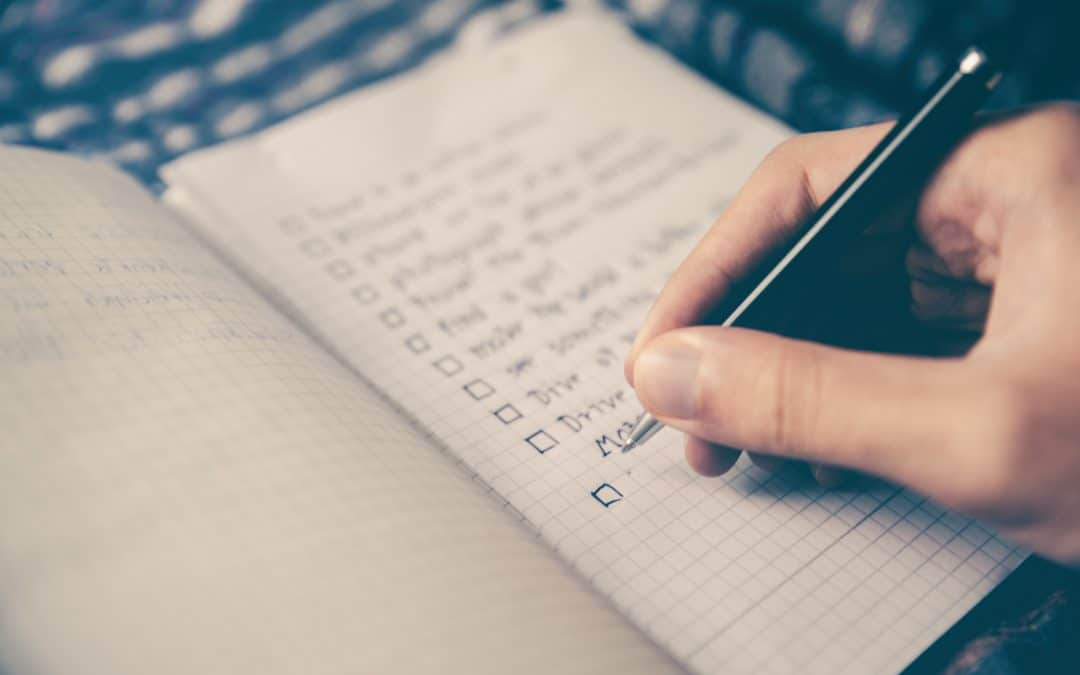 When you're stressed and overwhelmed, make a list